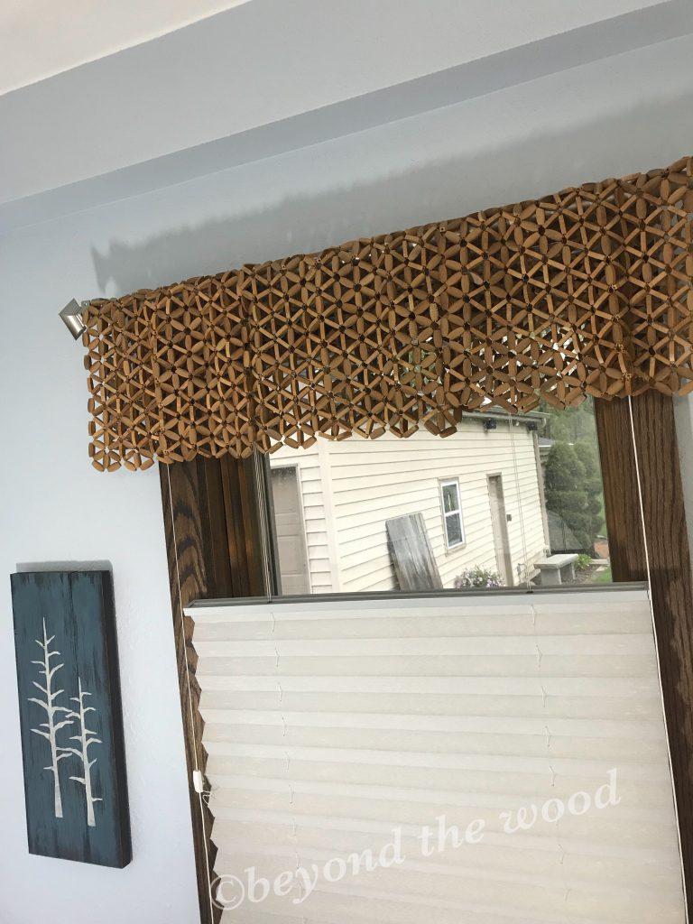 Beyond the Wood Placemat window treatment