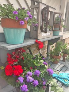 Styled Potting Bench