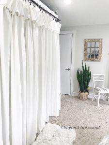 Bleaching Drop Cloth Curtains
