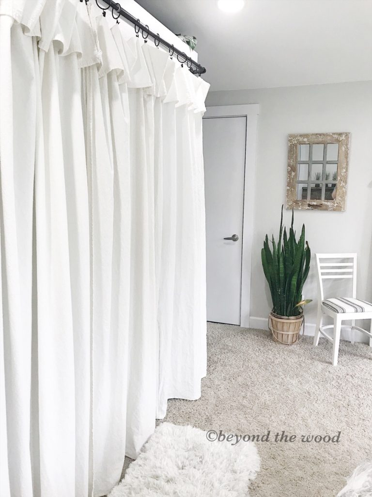 Bleaching Drop Cloth Curtains