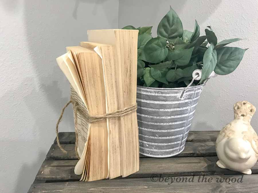 Beyond the Wood DIY Vintage Books